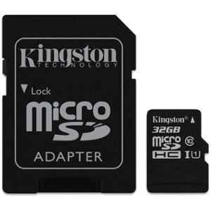 Kingston 32GB Micro SDHC Card, SDC10G2/32GB