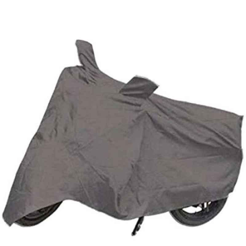 Mobidezire Polyester Grey Bike Body Cover for Hero HF Deluxe