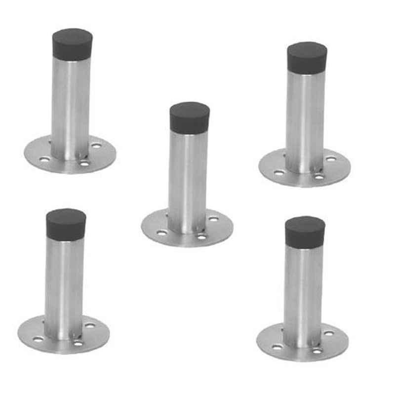 Nixnine Stainless Steel Back Silencer Door Stopper with Rubber Pad, SS_REG_A-605_5PS (Pack of 5)
