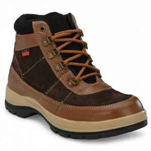 Kavacha S86 Air Mix Steel Toe Leather Tan Safety Shoes, Size: 10