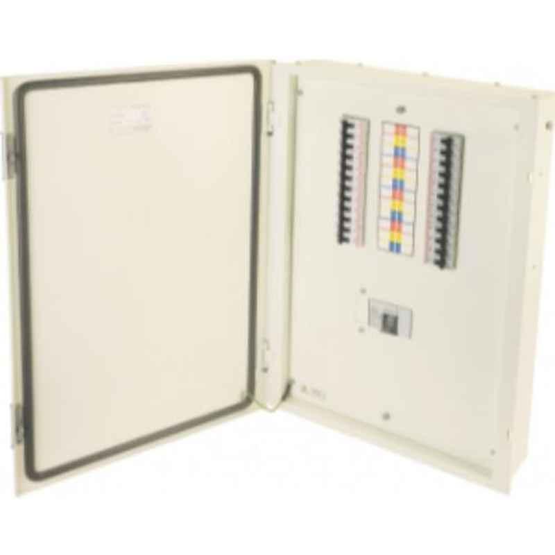 Indoasian Optipro 8+36 Module 12 Ways IP30 TPN Single Door Distribution Box, 811837