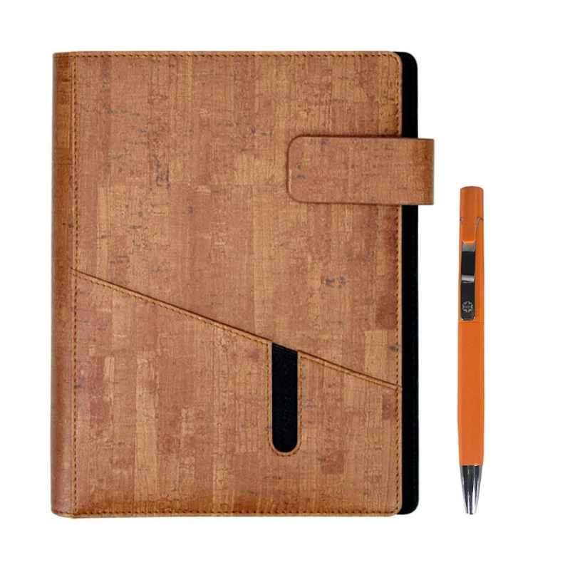 Stolt Whiz PU Leather Brown Cover Business Diary with Pen