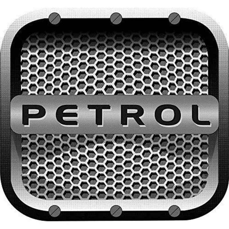 Just Rider 14x13cm Grey Petrol Car Sticker (Pack of 5)