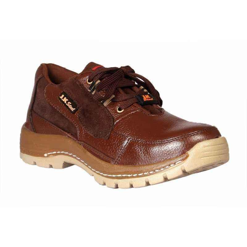 Jk Steel JKPA068BRN Steel Toe Safety Shoes, Size: 10