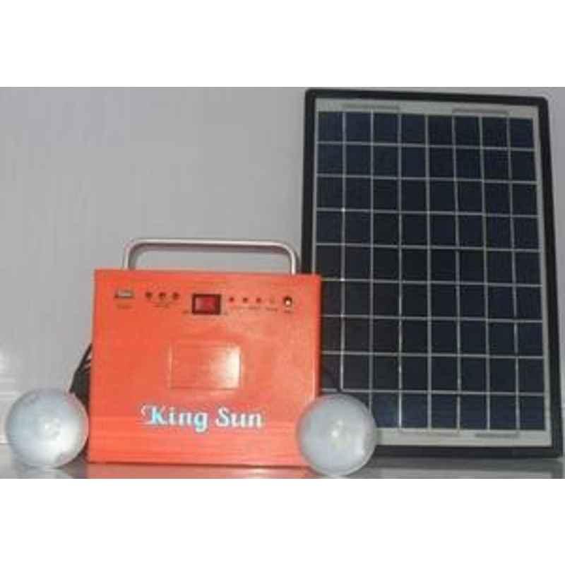 King Sun Portable Solar Lighting System 8 Watt 12V Model No KSSHL-08