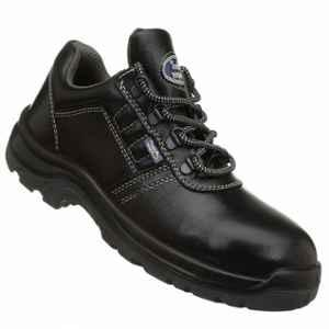 Allen Cooper AC-1267 Antistatic Steel Toe Black Safety Shoes, Size: 6