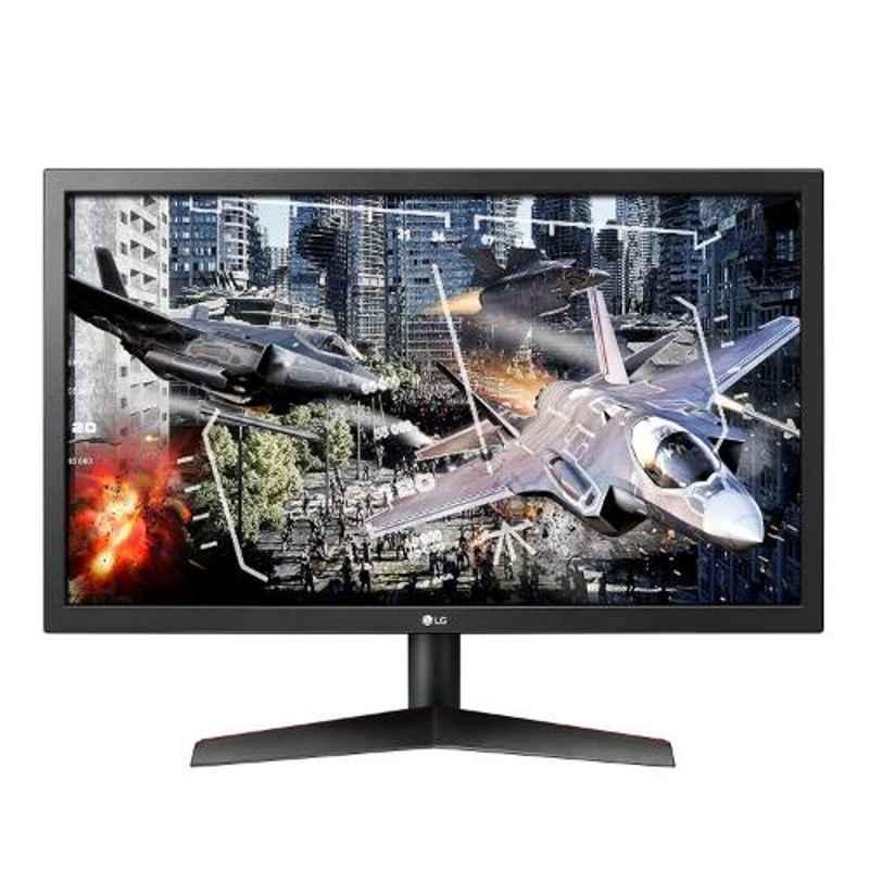 LG 24 inch Black Ultragear Full HD LED Gaming Monitor with Radeon FreeSync Technology, 24GL600F-B