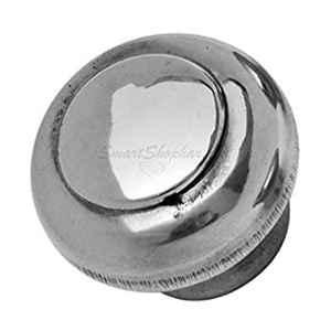 Smart Shophar 5 inch Stainless Steel Silver Buick Door Knob, SHA40KB-BUIC-SL1.25-P1