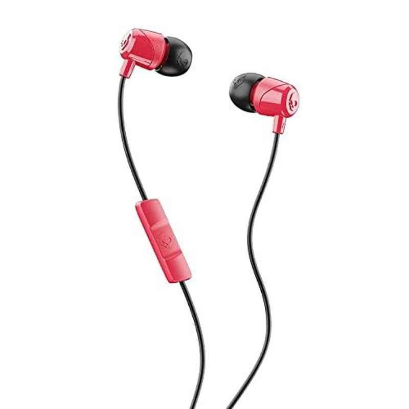 Skullcandy Jib Red & Black Wired in-Earphone with Mic, S2DUY-L676