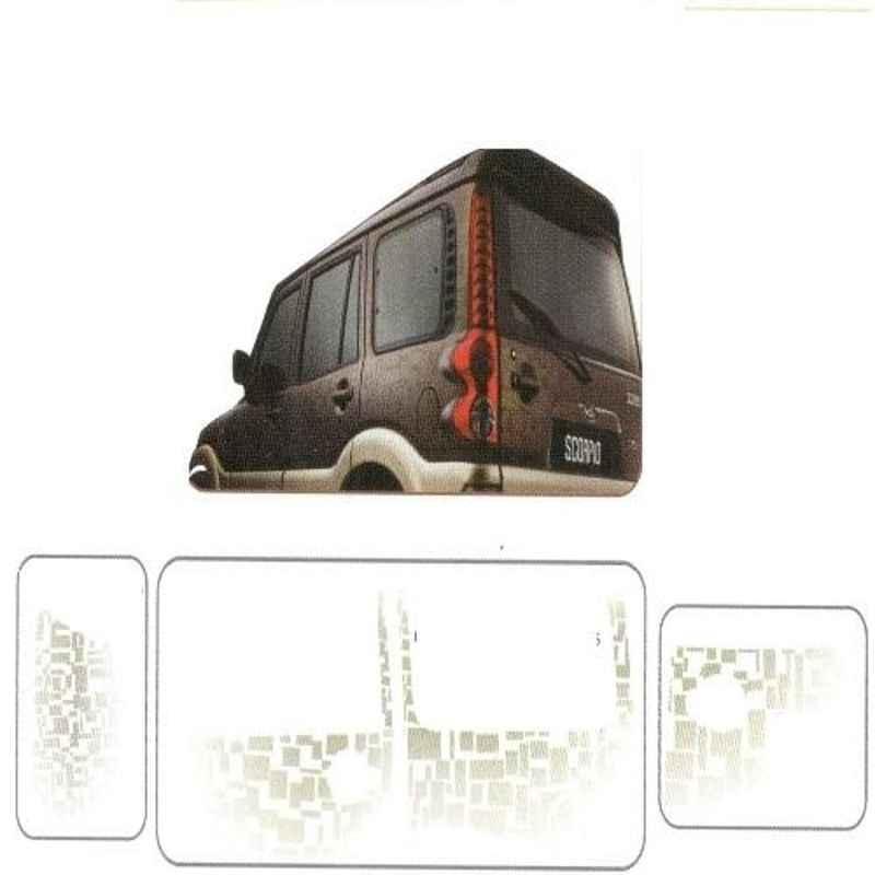 Galio Graphics Car Sticker Set for Mahindra Scorpio Mhawk, GL-157-DARKV