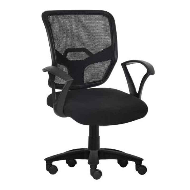 Da Urban Lexia Black Medium Back Revolving Office Chair