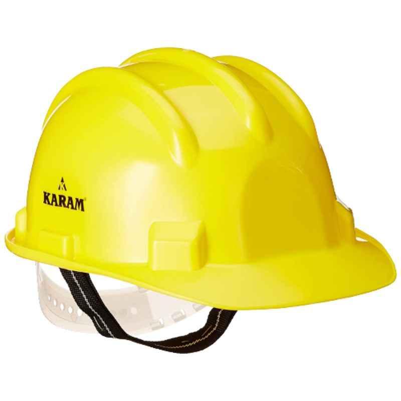 Karam Yellow Plain Safety Helmets, PN-501 (Pack of 10)