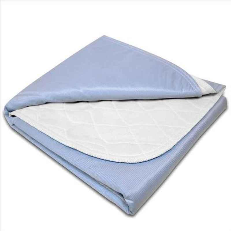 KosmoCare 30x35 inch Blue Brushed Poly Re-Usable Underpad, IRUKBB
