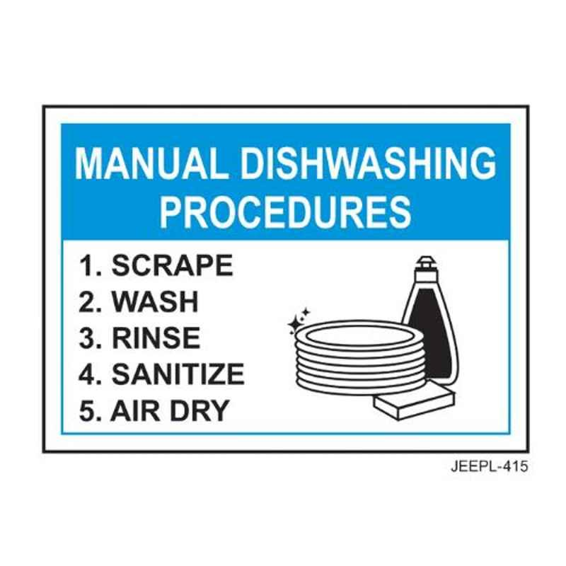 Jeepl Manual Dishwashing Procedures Sticker, jeepl-415