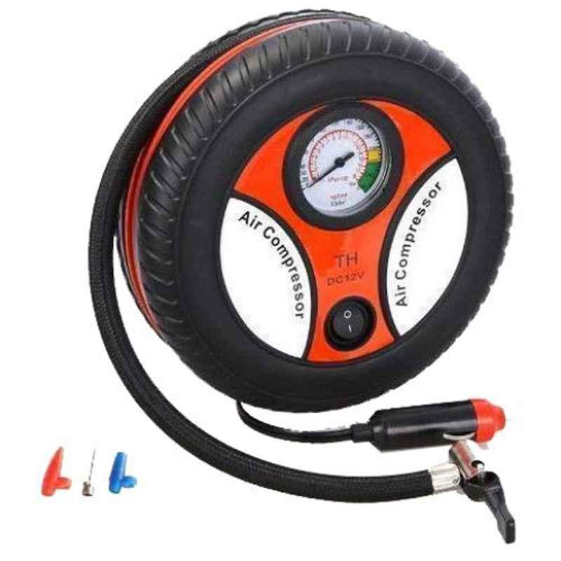 Love4ride Black ABS Portable Electric Mini Air Compressor Pump for Car & Bike Tyre