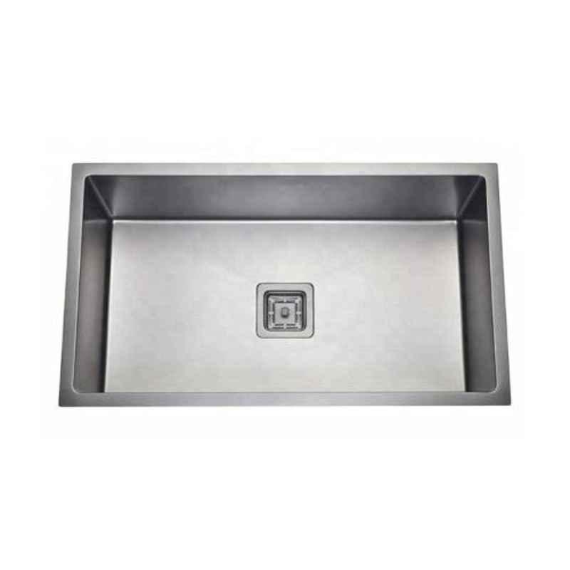 Crocodile 30x18x10 inch Stainless Steel Matt Finish Silver Kitchen Sink