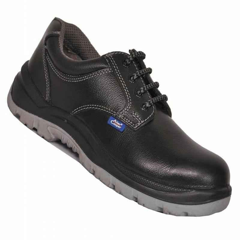 Allen Cooper AC 1102 Antistatic Steel Toe Black & Grey Safety Shoes, Size: 8
