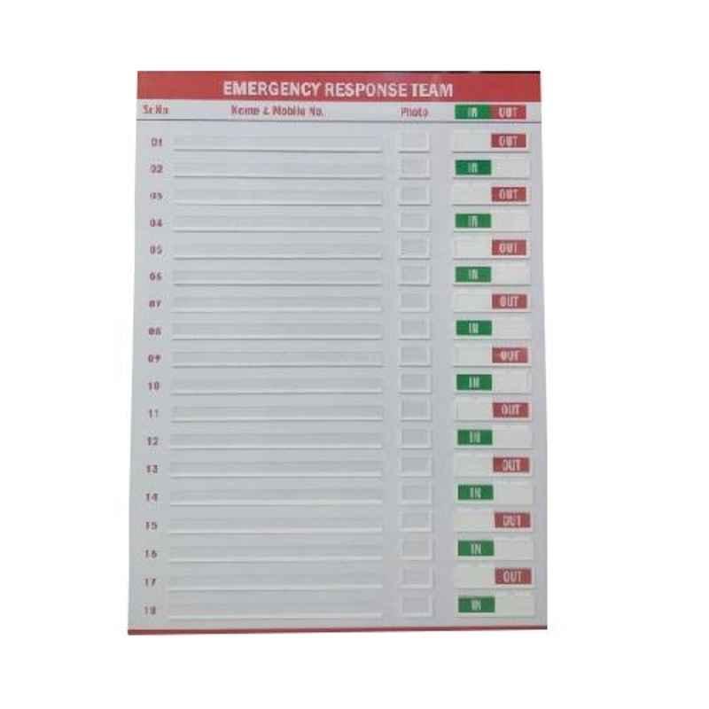 Plastikraft 2x3ft Emergency Response Team Display Board, ERT-Board