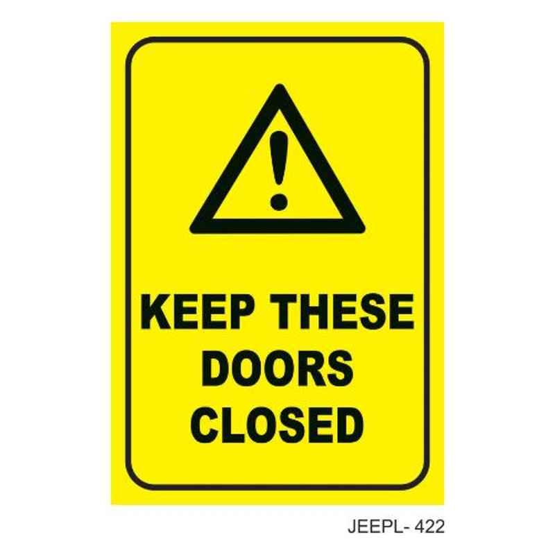 Jeepl Keep these Doors Closed Sticker, jeepl-422