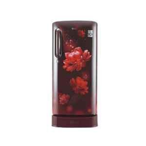 LG 190L 4 Star Scarlet Charm Smart Inverter Refrigerator, GL-D201ASCY