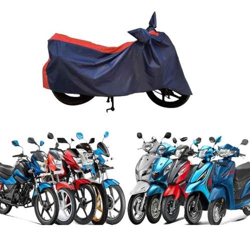 Zeeko Red & Blue Bike Body Cover for Honda CB Twister