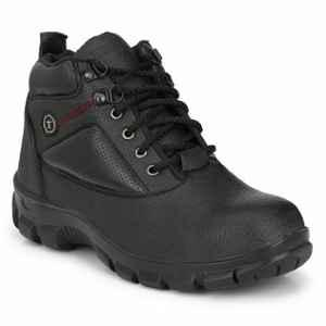 Timberwood TW22BLK PU Steel Toe Black Safety Shoes, Size: 9