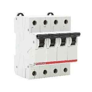 Indoasian 6 A Four Pole D Curve Optipro Miniature Circuit Breaker