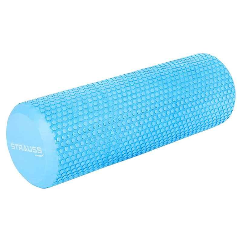 Strauss 45cm Sky Blue Yoga Foam Roller, ST-1440