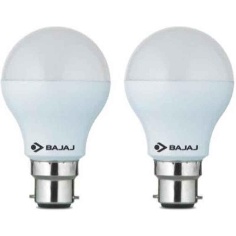 Bajaj 5W White B22 Standard LED Bulb, 830083 (Pack of 2)