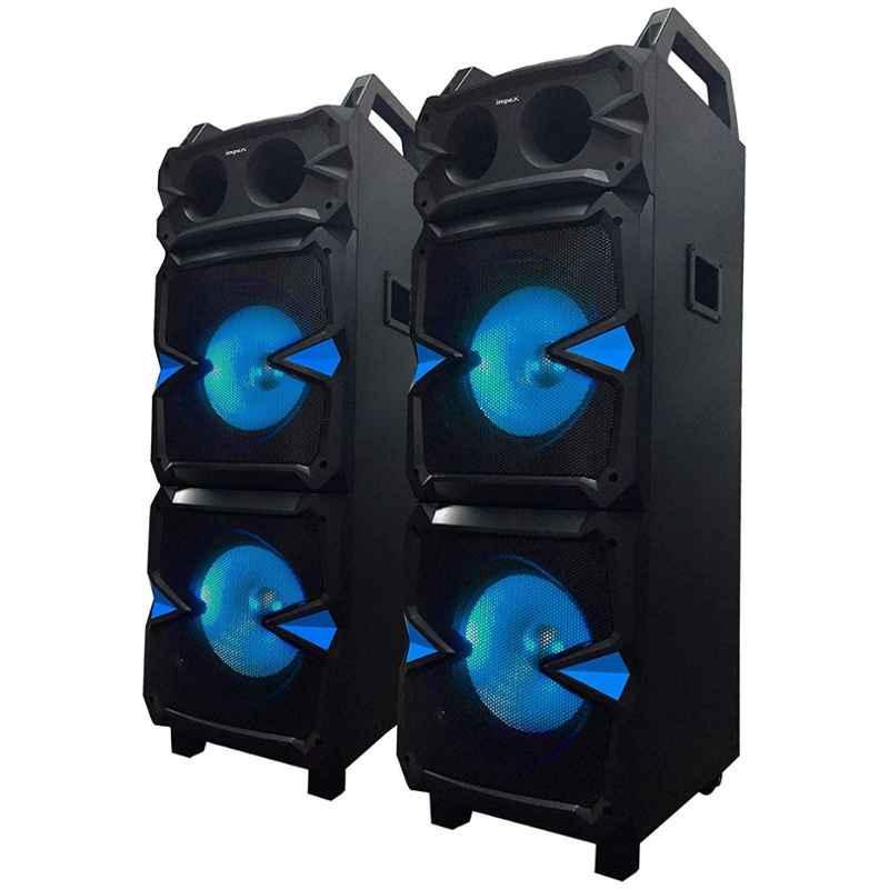 Impex ST-160 160W Black Stage Multimedia Speaker with DJ Lighting & Wireless Mic, FG0764