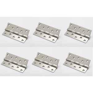 Smart Shophar 4x1.5x3 inch Stainless Steel Silver Bearing Hinge, SHA40HG-BEAR-SL4X1.5X3-P6 (Pack of 6)