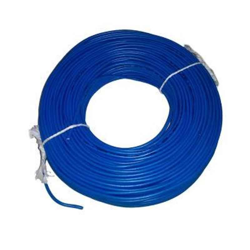 KEI 0.5 Sqmm Single Core FR Blue Copper Unsheathed Flexible Cable, Length: 100 m