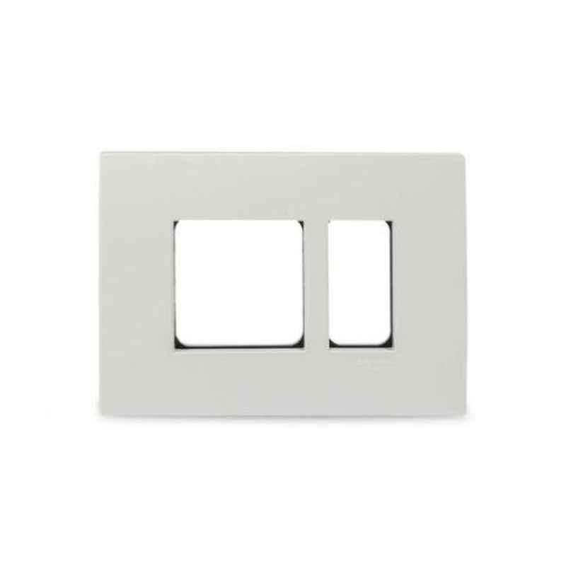 Schneider Opale 8 Module Horizontal White Grid & Cover Plate, X0708 (Pack of 5)