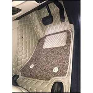 Hi Art Beige 7D Car Mats for Skoda Rapid