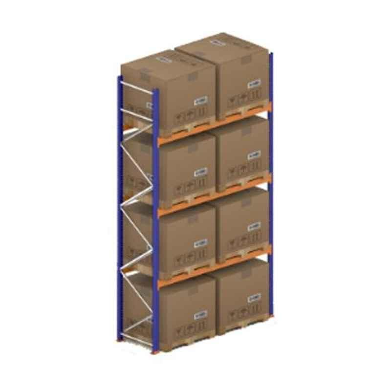Godrej Ground Plus 3 Layers Steel Selective Pallet Racking, Max Load Capacity: 6000kg, Main Unit: 5000x2700x1000mm (HxWxD)