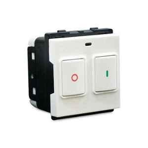 Schneider Opale 25A 2 Modules Plastic White Motor Starter Switch, X1186WH