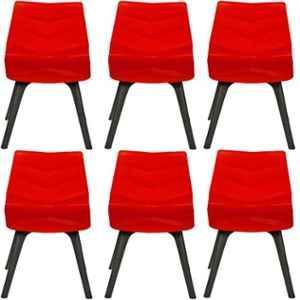 Regent Diamond Shell Plastic Black & Red Chair (Pack of 6)