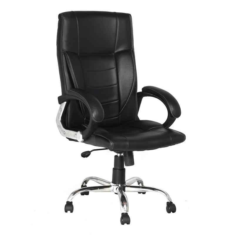 High Living Rome Leatherette High Back Black Office Chair
