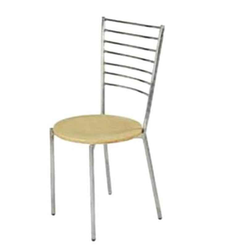 Steel Craft DCHK05 Stainless Steel Cafeteria Chair with Wooden Ply Seat