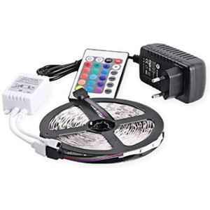 EGK 4m 16 Colour RGB Waterproof LED Strip Light with Adaptor Remote Control, EGKSLRGB5 (Pack of 5)