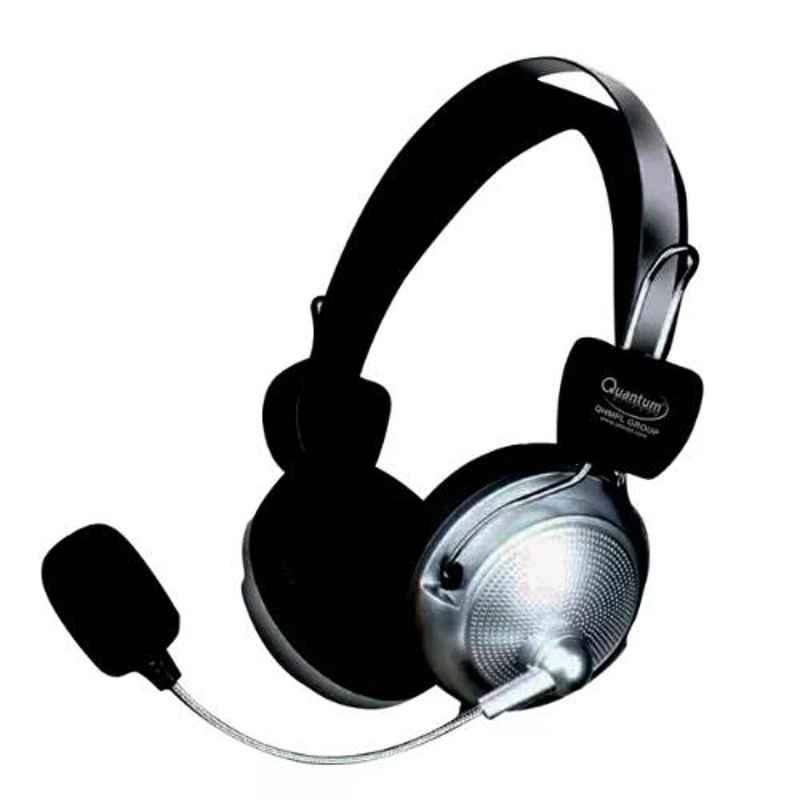 Quantum QHM862 Black Usb Headphone With Mic