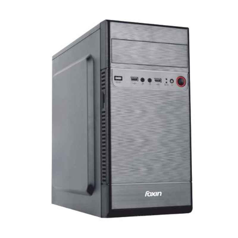 Foxin SWING Black Mid Tower PC Cabinet with SMPS