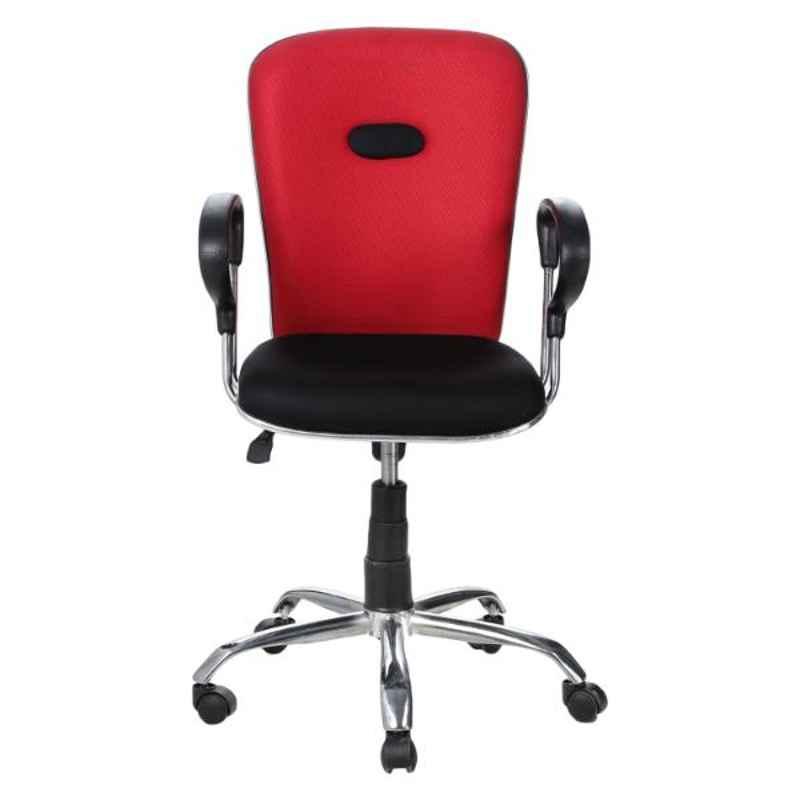 Regent Net & Metal Black Chair with PU Chrome Handle, RSC-530