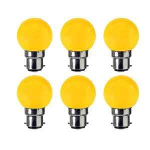 VRCT 0.5W B-22 Yellow Bulbs, DL-600 (Pack of 6)