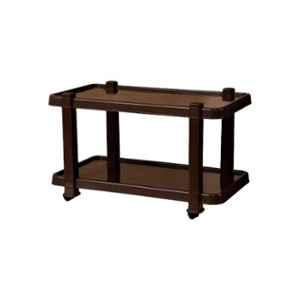 Italica Polypropylene Nut Brown Table with Wheels, 9509