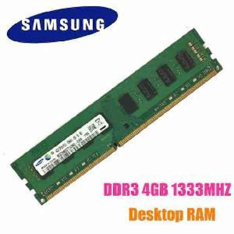 Standard SAMSUNG DDR3 4GB OEM DESKTOP RAM WITH 1 YEAR REPLACEMENT WARRANTY FROM SELLER