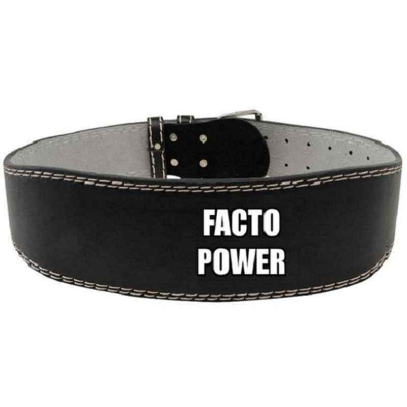 Facto Power 48 inch Leatherate Weight Lifting Gym Belt, FP_LTHR_G.BLT_4XL