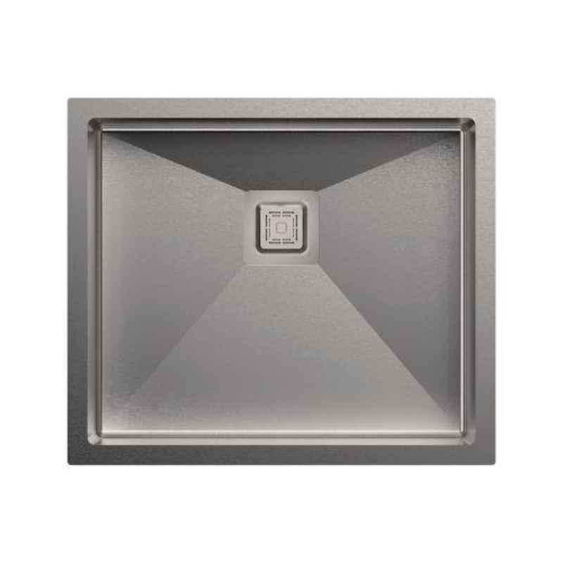 Carysil Micro Radius R10 Single Bowl Stainless Steel Matt Finish Kitchen Sink, Size: 21x18x8 inch