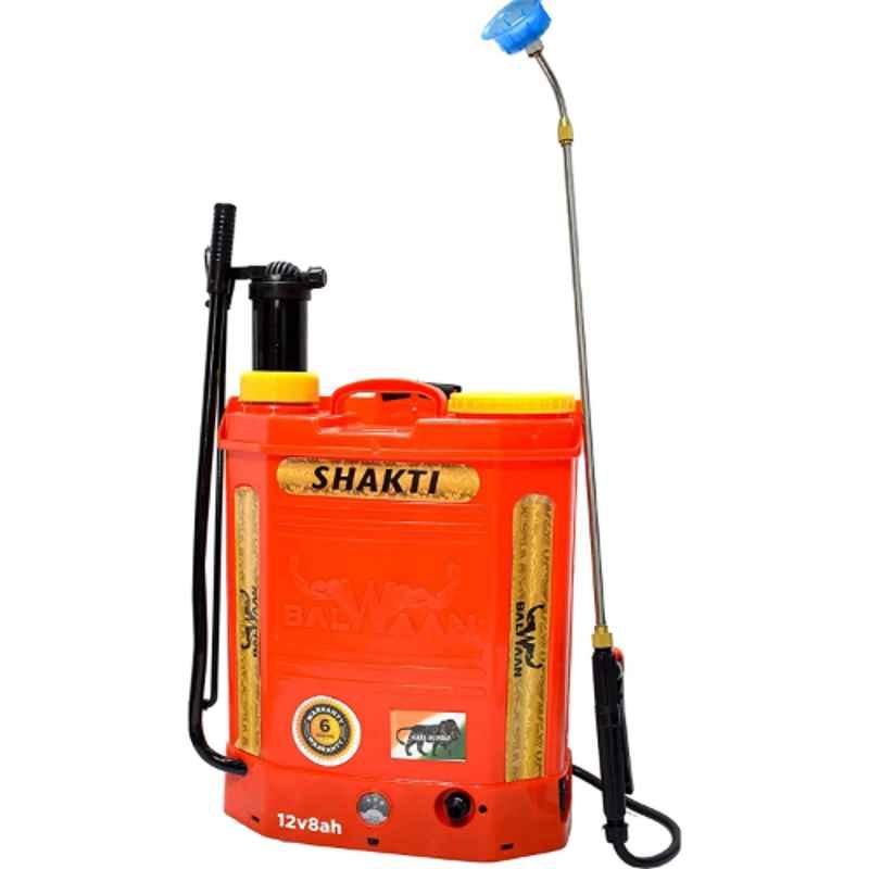 Balwaan 18L 12V 8A Battery & Manual Knapsack Sprayer Pump, MTAK-BA-SP-724