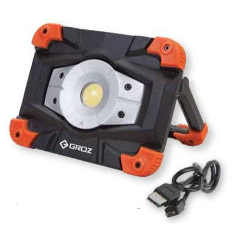 Groz 10W IP54 COB Rechargeable Worklight, LED/550